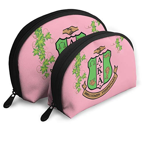 Alpha Kappa Alpha Travel Shell Makeup Tote Bag Cosmetic Pouch Toiletry Organizer Clutch Bag For Womens Girls