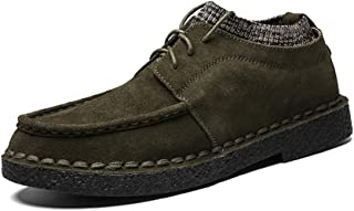 HUANGAIHUA Classic Oxford For Man Casual Loafers Fashion Comfortable Lace Up British Style Flats Shoes Suede Leather Upper Round Toe Abrasion Resistant