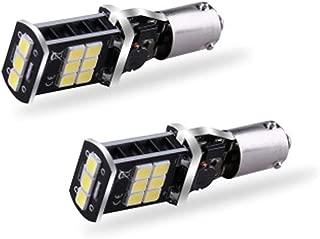 12-20V 2925 15-SMD BA9S T4W BAX9S H6W H21W LED Bulbs Extremely Bright 800 Lumens for Back Up Reversing Lights 6500K LED White (Pack of 2) (BA9S / H21W)