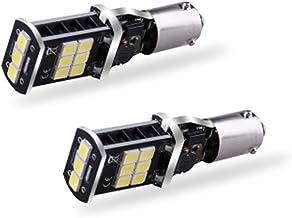 12-20V 2925 15-SMD BA9S T4W BAX9S H6W H21W LED Bulbs Extremely Bright 800 Lumens for Back Up Reversing Lights 6500K LED Wh...
