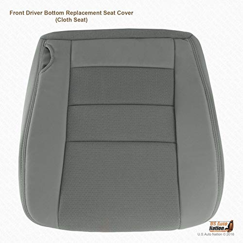 US Auto Nation Fits Ford F250 F350 XLT Driver Bottom Gray Cloth Seat Cover Code:2E/3E
