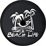 Caps Supply JL Tire Cover Beach Life Palm Trees (Fits: JL Accessories Sport with Back-Up Camera) 32 Inch 245/75r17, 255/70r18