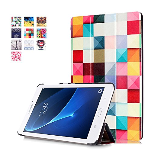 Tab A 7.0 2016 Case,PU Leather Flip Cover Folio Case for Samsung Galaxy Tab A 7.0 Inch (SM-T280 / SM-T285) Tablet 2016 Release Cover,Colorful Cube