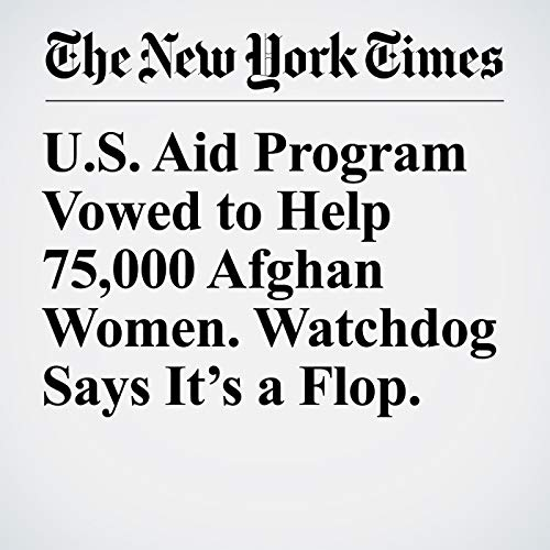 U.S. Aid Program Vowed to Help 75,000 Afghan Women. Watchdog Says It's a Flop. copertina