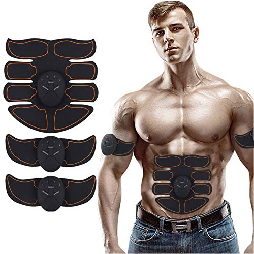 MATEHOM Abs Trainer, EMS Muscle Stimulator, Ab Belt Toning, Fitness Training Gym Workout Machine For Men & Women