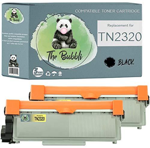 The Bubbli Original | TN-2320 TN 2320 Tóner Compatible para Brother HL-L2340DW MFC-L2700DW HL-L2300D HL-L2360DN DCP-L2500D HL-L2365DW DCP-L2520DW MFC-L2720DW MFC-L2740DW DCP-L2540DN (2 Negro)
