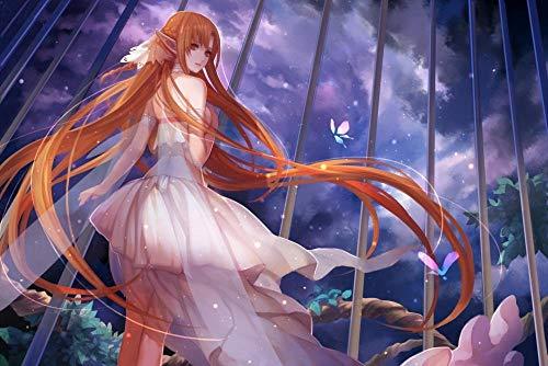 JUHAO Obra De Bordado De Diamantes Diy-Sword Art Online Anime Imagen-Pintura De Diamante 5D, Adecuada Para Principiantes Y Entusiastas Del Bricolaje
