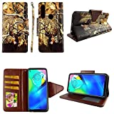 Camo Deer Case for Motorola Moto E 2020 [Cases Wallet Magnetic Flap Closure] Shock-Proof TPU [2-Way Kickstand] [Card Slots] [Wrist Strap] [Pu Leather] Folio Slim Phone Cover