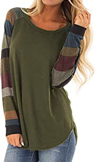 Blouses for Womens,DaySeventh Women's Long Sleeve Stripe Casual Tunic Sweatshirt Tops Blouse Shirt