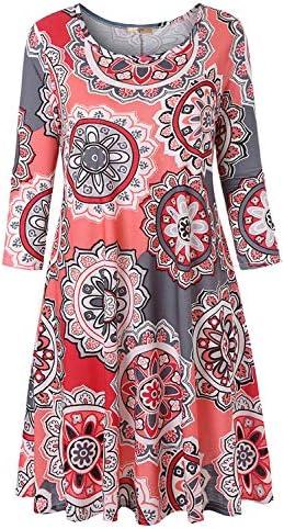 Luranee Nice Boutique Dresses for Women Juniors Midi Dress Half Sleeve Round Neck Curvy Hem product image