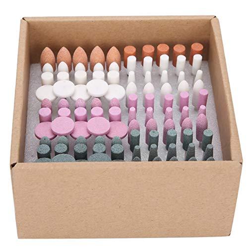 PBOHUZ Dental Stone Grinding Polisher-100pcs/box Assorted Dental Stone Grinding Polisher Head Burs Stone Nail Drill Bits Set