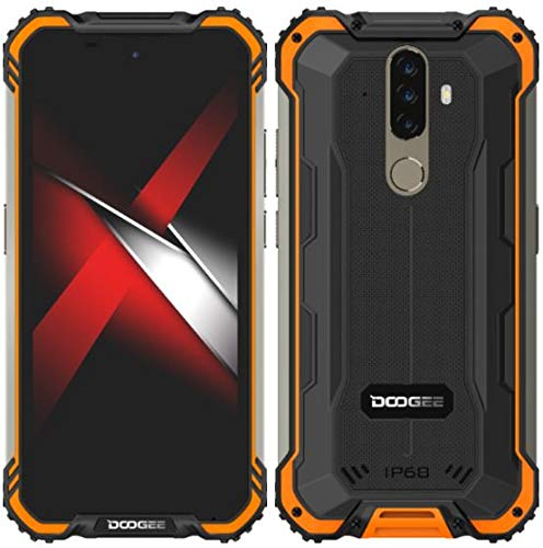 Móvil Resistente Android 10 DOOGEE S58 Pro, 5.7 '' Teléfono Antigolpes IP68 /IP69k Impermeable, Octa Core 6GB RAM 64GB ROM, 16MP + 16MP + 2MP + 2MP, Batería 5180mAh, NFC OTG GPS Dual SIM Naranja
