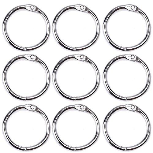 100 PCS 25mm Diámetro interior hojas sueltas metálicas anillas anillo álbum Scrapbook arte Foto Split anillos herramienta Clip