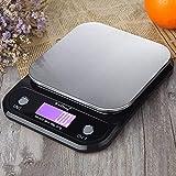Báscula de Cocina Digital Weiheng Báscula de Peso de Cocina de Acero Inoxidable Básculas electrónicas Herramienta de Utilidad Balance de Peso de alimentosFT