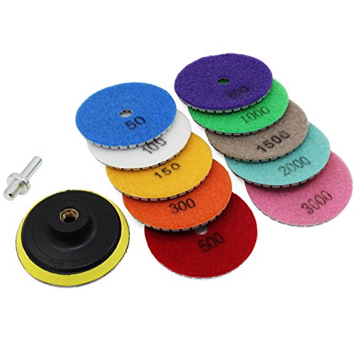 Aussel Diamond Polishing Pad Wet Pulido Rueda Set para Grani