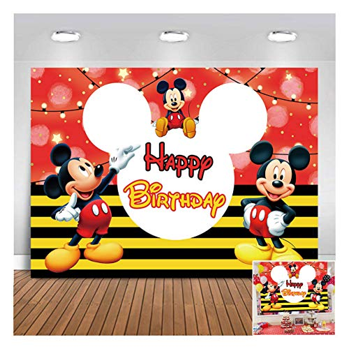 Thomas Backdrop The Train Theme Birthday Party Banner 5x3ft Boys Toy Happy Birthday Photography Background Colorful Balloons Baby Shower