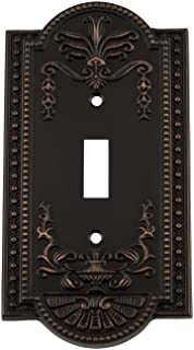 Nostalgic Warehouse 719638 Meadows Switch Plate with Single Toggle, Timeless Bronze