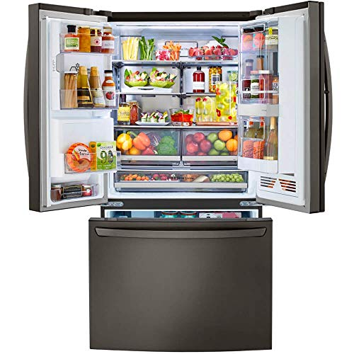 LG LRFVC2406D 24 Cu.Ft. Black Stainless French Door Refrigerator