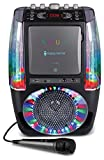 Singing Machine SML605BK Agua Dancing Water Fountain Karaoke System with LED Disco Lights & Microphone, Black