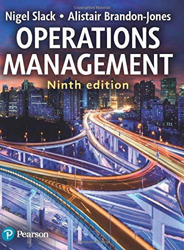 Compare Textbook Prices for Operations Management 9 Edition ISBN 9781292253961 by Slack, Prof Nigel,Brandon-Jones, Prof Alistair