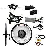 Kit de conversión para bicicleta eléctrica de 26 pulgadas, 48 V, 1000 W, motor eléctrico, kit de conversión para rueda delantera