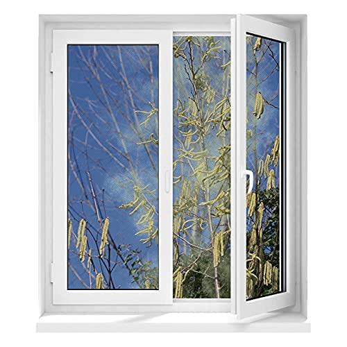 Hoberg Protezione antipolline per finestre con innovativo fissaggio magnetico| Rete per mosche con protezione antipolline fino a 150x130cm tagliata individualmente su misura, senza forare o avvitare