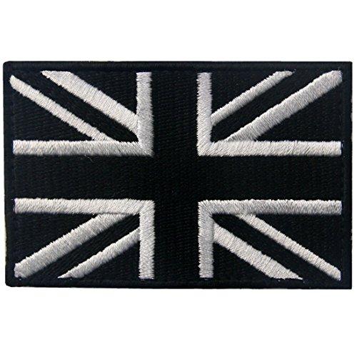 Táctico Gran Bretaña Bandera de Union Jack emblema Broche Bordado de Gancho y Parche de Gancho y bucle de cierre