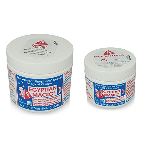 Egyptian Magic - Crema multiusos para la piel, 4oz + tarros de 2oz