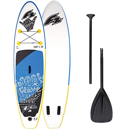 F2 Inflatable Surfs Kids 8\'2\'\' Kinder-Stand Up Paddle Board Set 800366 White/Blue - 265 cm