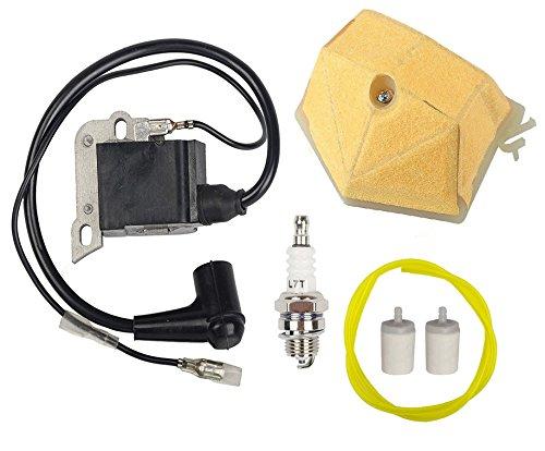 OxoxO Zündspulen-Set mit 503 89 81-01 Luftfilter Kraftstofffilter Kraftstoffleitung für Husqvarna 50 51 55 61 254 257 261 262 266 Motorsäge