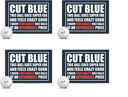 Cut Blue Golf Balls, 4 Piece Urethane (One Dozen)...