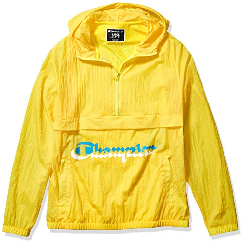 Champion LIFE Men's Anorak Windbreaker, Sunny Yellow, Small