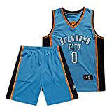 QPY Russell Westbrook de Oklahoma City Thunder # 0 Camiseta de Baloncesto de los Hombres, Unisex Alero de Baloncesto Jersey Camiseta sin Mangas (S-XXL) Suit-XXL