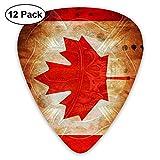 Firefight Skull Canada Flag Classic Guitar Picks 12-Pack