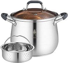 DIAOD Stainless Steel Steamer, Steamer,Pasta Pot with Steamer Basket, Stainless Steel Steamer