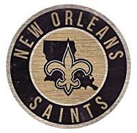 Fan Creations New Orleans Saints Wood Sign 12 Inch Round State Design