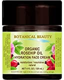 ORGANIC ROSEHIP OIL HYDRATION FACE CREAM. For Normal - Dry - Sensitive Skin. Moisturized and nourished 4 Fl. oz. - 120 ml.