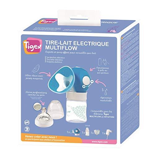 Tigex Multiflow - Extractor de Leche Eléctrico con Intensidad de Succión Regulable