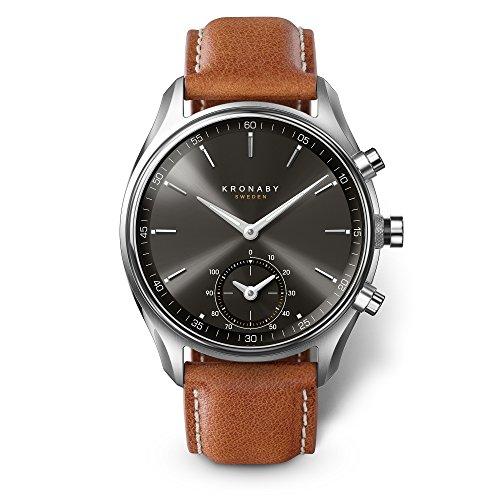 KRONABY SEKEL Herren Hybrid Smartwatch A1000-0719 eine traditionelle Uhr mit Smartwatch Funktionalitäten 43mm Gehäusedurchmesser Saphirglas 100 Meter wasserdicht
