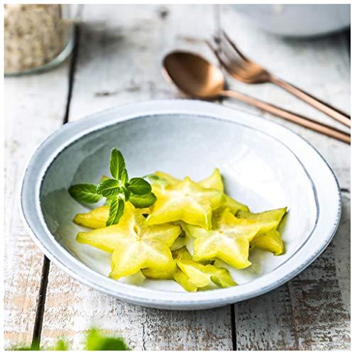 YYF Bol japonais rond en céramique créatif - Fruits/Salade/Soupe profonde/Nouilles 7-7,5 pouces (Taille : 18cm)