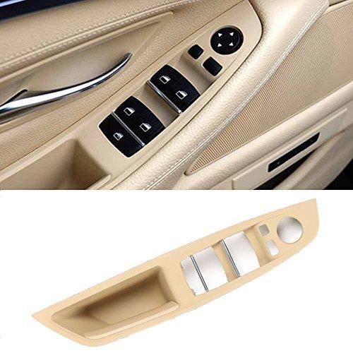 Jaronx Driver Side Door Handle for BMW 5 Series,Window Switch Armrest Panel Left Front Door Armrest Pull Handle for BMW F10/F11 520 523 525 528 530 535 (2010-2016)(Beige Color)
