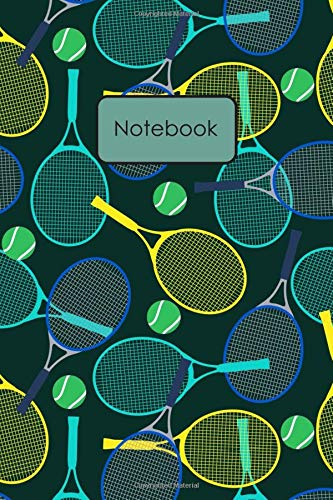 Notebook: Colorful Tennis Balls And Rackets Pattern Lined Journal To Write In For Notes, Ideas, Diary, To-Do Lists, Notepad – Tennis Gifts For Tennis … Women Teens Boys Girls Kids Who Love Tennis