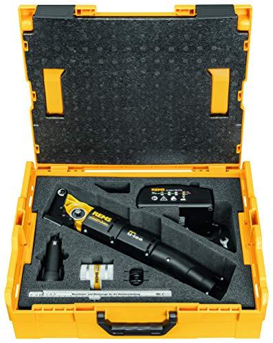 Rems 844X01 R220 Cortatubos Akku-Nano (cortador de tubos, batería de ion de litio de 10,8 V, 1,3 Ah, cargador rápido, rodillos de contrapresión, llave inglesa, bolsa de transporte)
