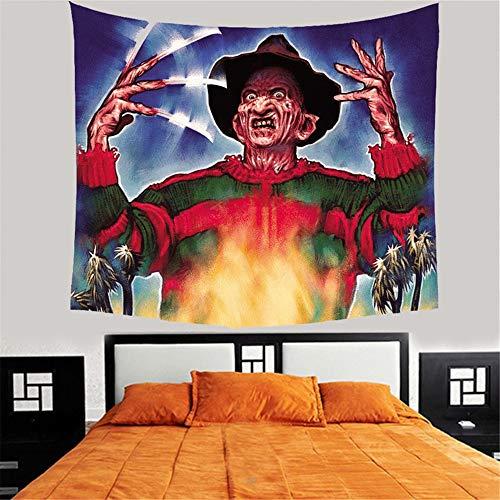 Tapiz trippyCustomized Home Decorativo Tapiz para colgar en la pared Película de terror Viernes Jason Freddy Tapices Mantas Mantel *