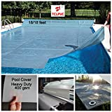 TCLPVC 18/18 Feet Super Guard Reinforced Above Ground Swimming Pool Cover for Frame