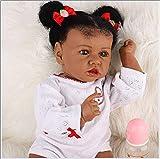 Reborn Muñecas Black Girls Baby Doll Body Soft Silicone Bebé 23 Pulgadas 58cm Lifelike Hecho a Mano Silicone Toys Regalo de cumpleaños