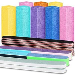 Beauty Shopping Nail Files and Buffers, FANDAMEI 20PCS Professional Manicure