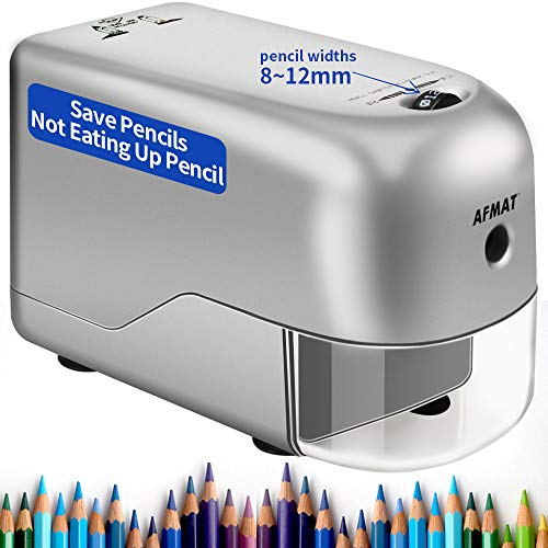 Electric Pencil Sharpener Heavy Duty, Electric Pencil Sharpener for Colored Pencils, Pencil Sharpener for Large Pencils, Artist Pencil Sharpener, Large Hole Pencil Sharpener for 8-12mm Width Pencils