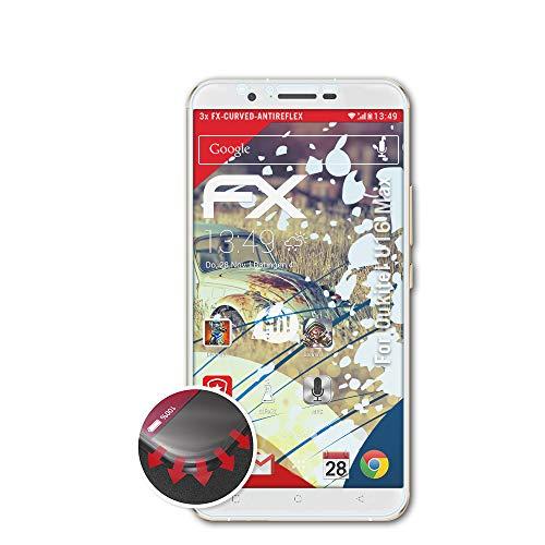 atFolix Schutzfolie kompatibel mit Oukitel U16 Max Folie, entspiegelnde & Flexible FX Bildschirmschutzfolie (3X)