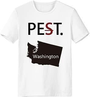 cold master DIY lab Washington The United States Map Pet But Not Pest White T-Shirt Short Sleeve Crew Neck Sport